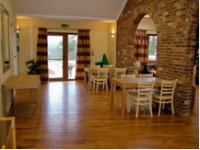 Rosewood dining area